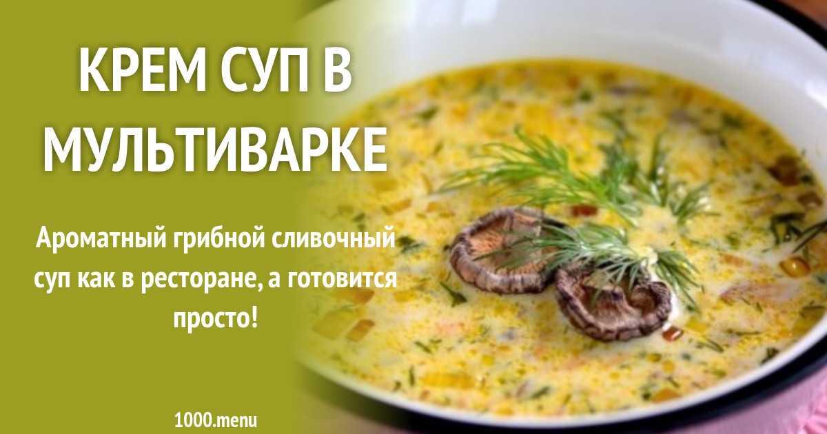 Как приготовить грибные супы из свежих шампиньонов в мультиварке: рецепты приготовления первых блюд