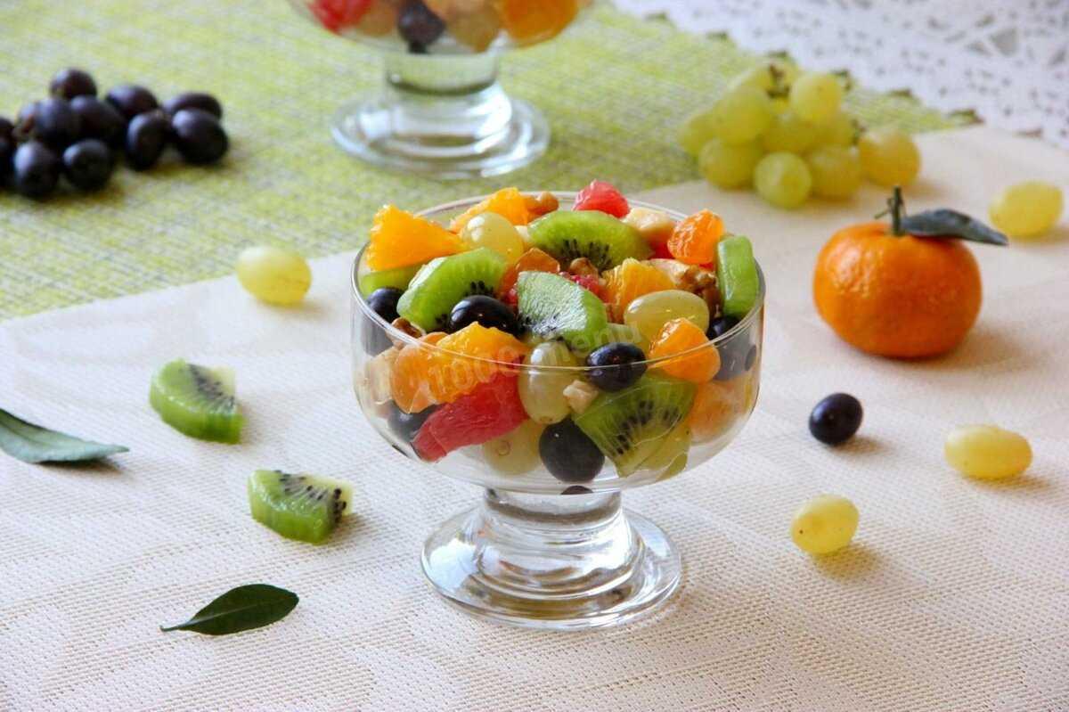 Готовь фруктовый салат киви апельсин яблоко банан: пошаговые фото, комментарии, порядок приготовления, состав, советы, похожие салаты