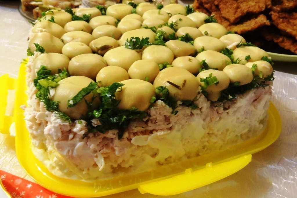 Салаты с грибами топ-7 пошаговых рецептов