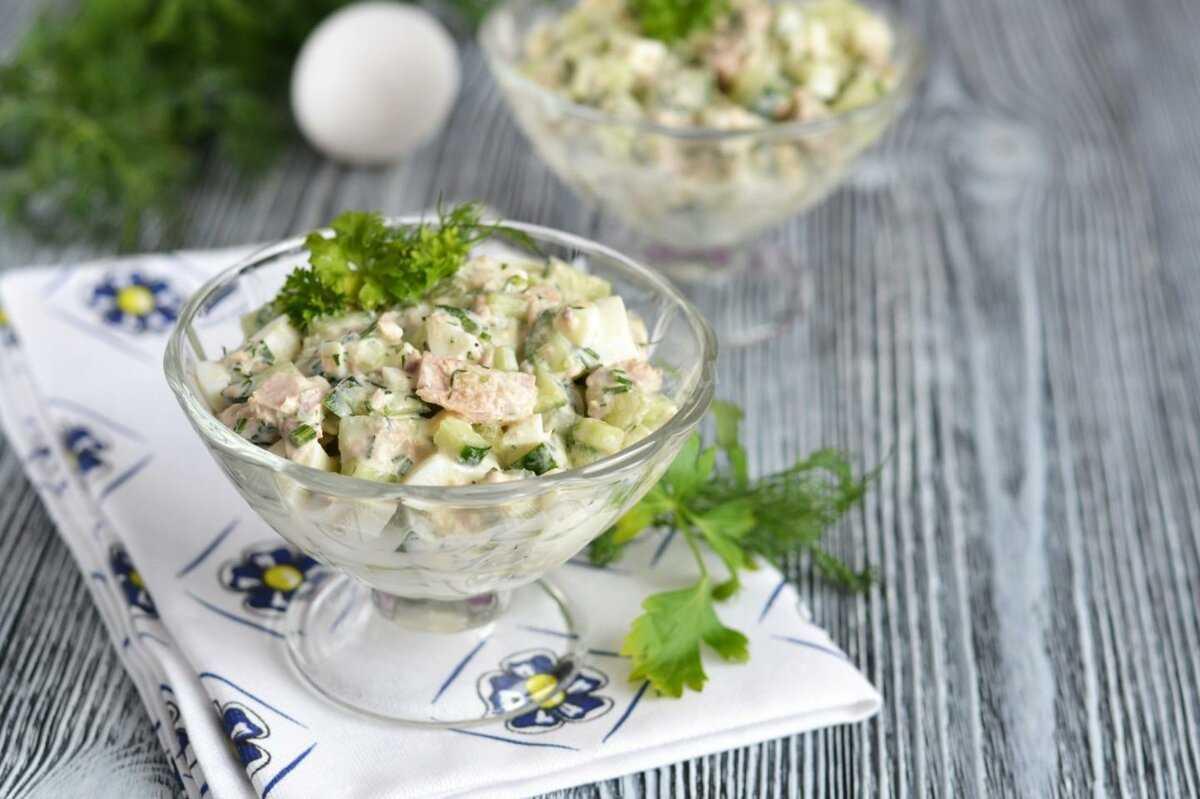 Салат с тунцом консервированным и майонезом рецепт с фото - 1000.menu