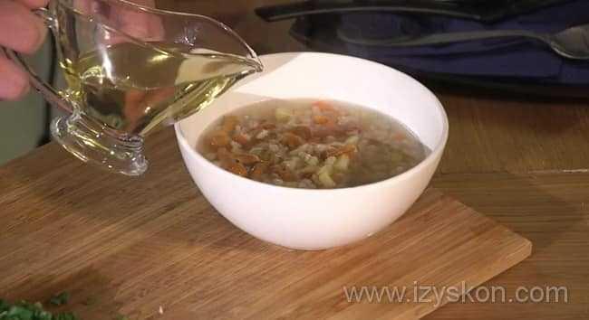 Грибной суп из замороженных грибов