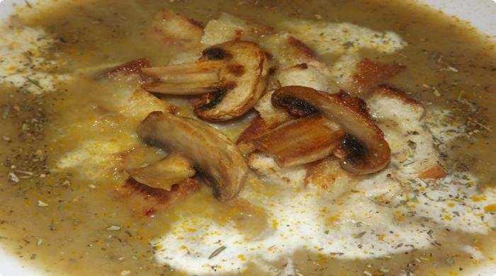 Суп пюре на курином бульоне из шампиньонов рецепт с фото пошагово - 1000.menu