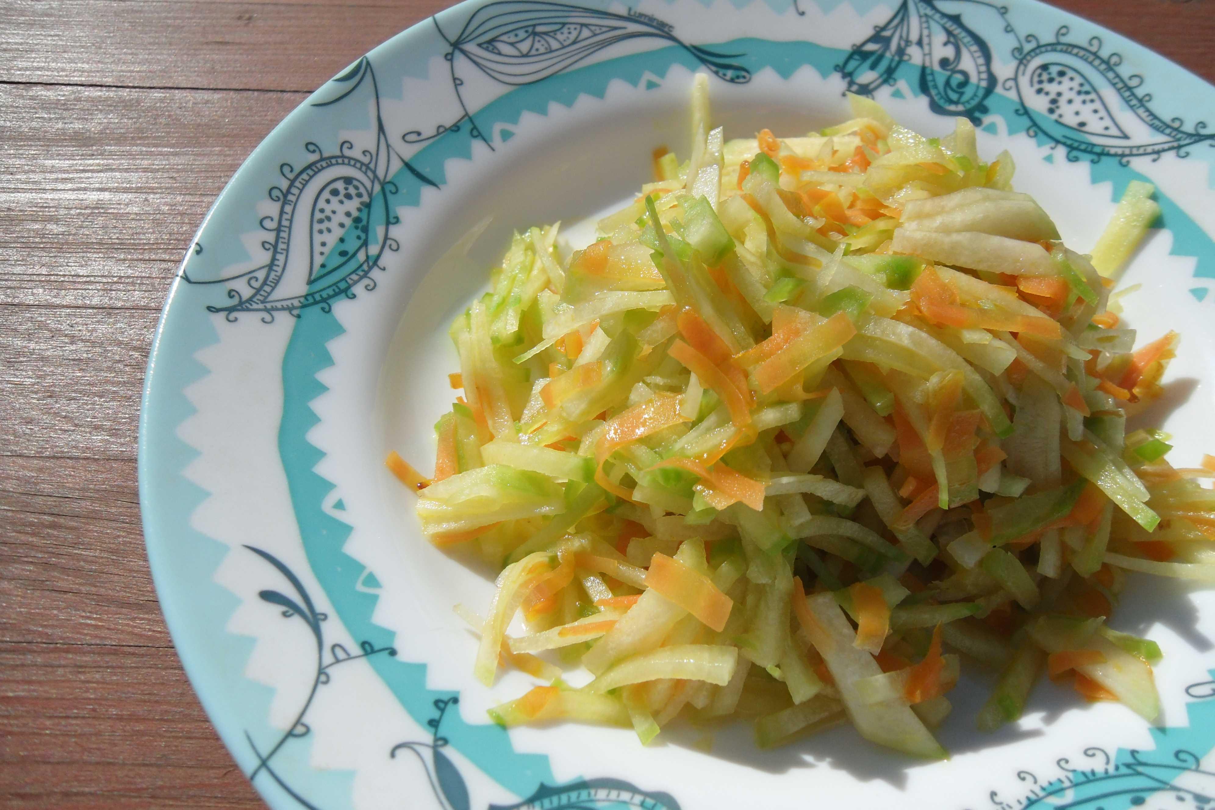 Салат Фитнес из редьки зеленой с морковью -  калорийность, похожие салаты, советы, пошаговые фото, комментарии, порядок приготовления, состав
