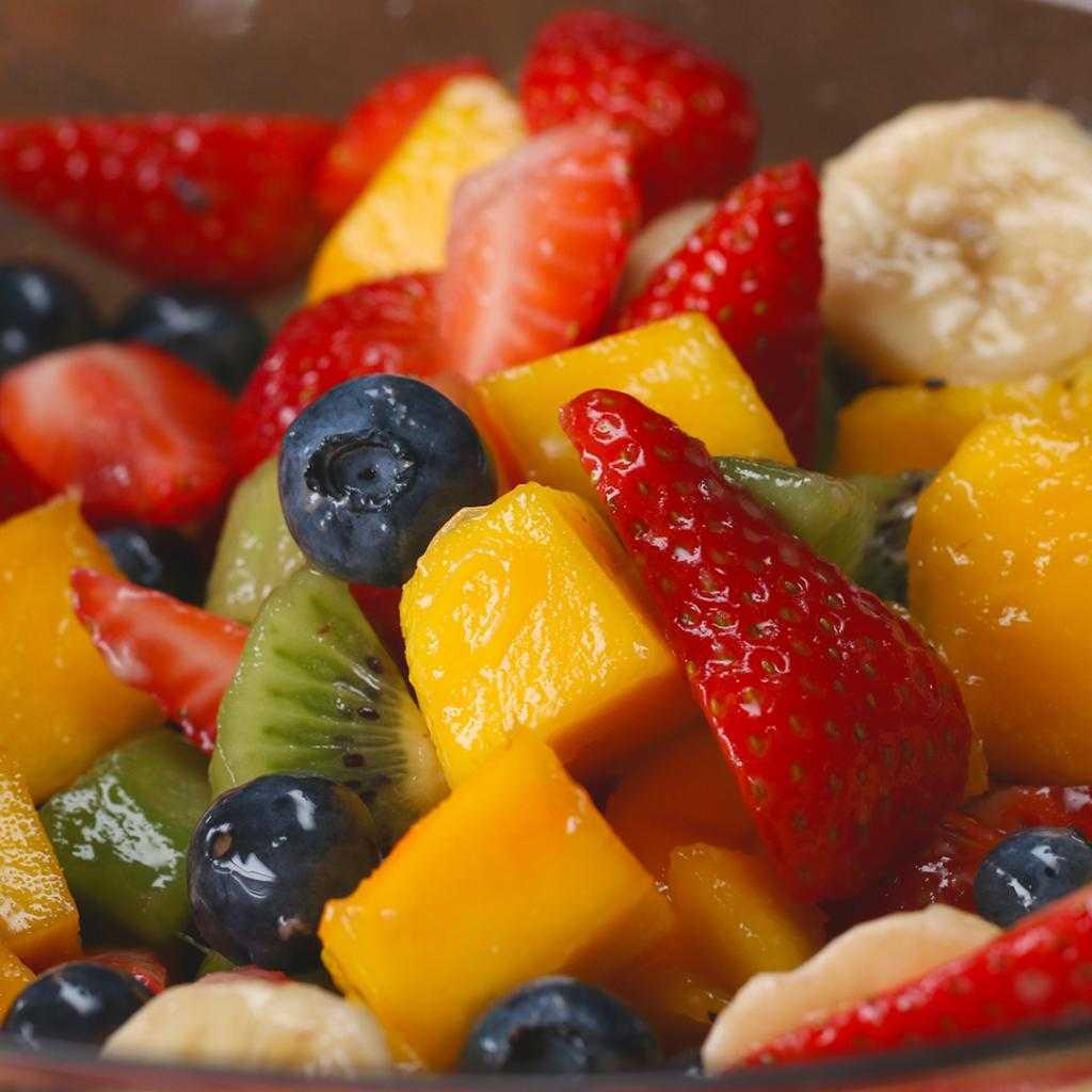 Пошаговый рецепт приготовления фруктового салата с фото