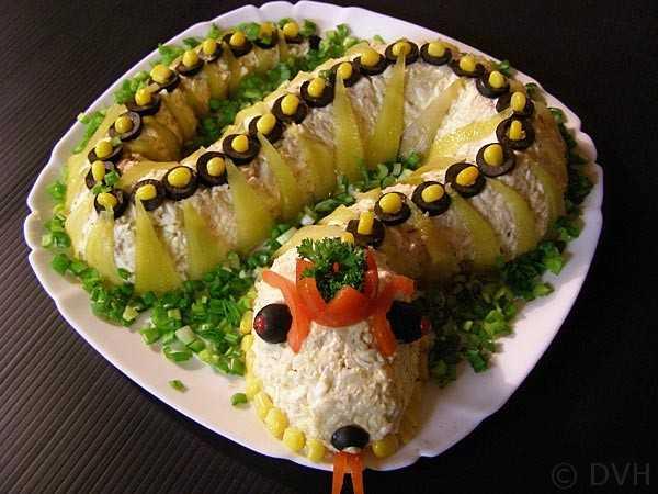 """Салат """"змея"""" на новый год 2013 (7 рецептов)"""