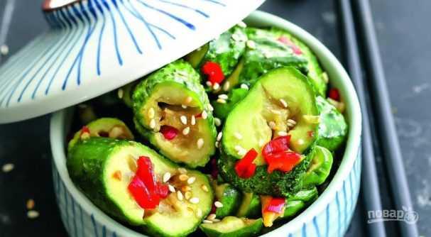Салат битые огурцы рецепт с фото