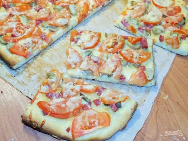 Пицца с белыми грибами - fraukitchen.ru