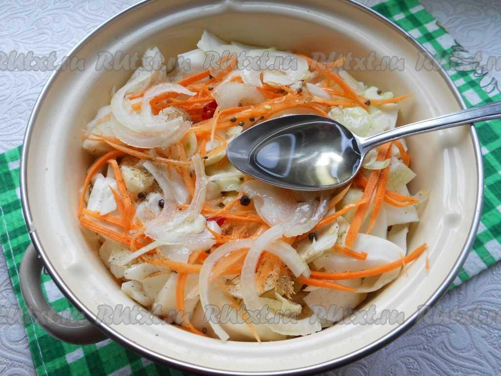 Пошаговый рецепт приготовления капусты по-корейски в домашних условиях с фото