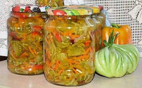 Рецепт: салаты из зеленых помидоров