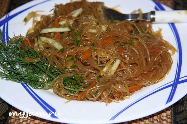 Салат из крахмальной лапши — пошаговый рецепт с фото