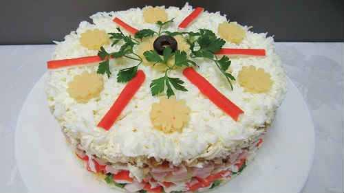 Рецепт салата снежная королева пошагово