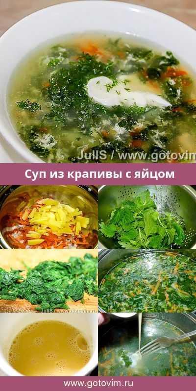 Суп из крапивы - как сварить крапивный суп