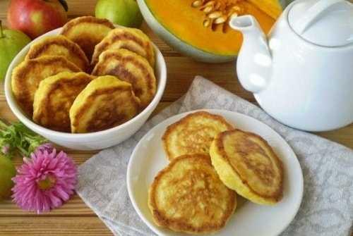 Оладьи из тыквы – рецепты с кефиром, молоком, творогом и яблоками