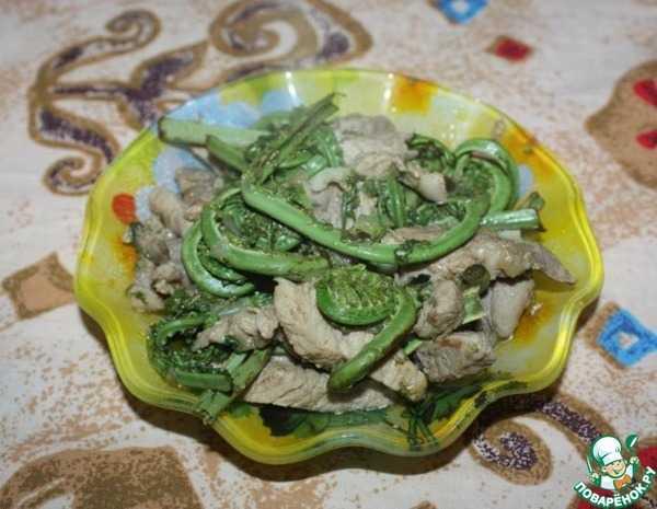 Салат из папоротника соленого - дальневосточная экзотика: рецепт с фото и видео