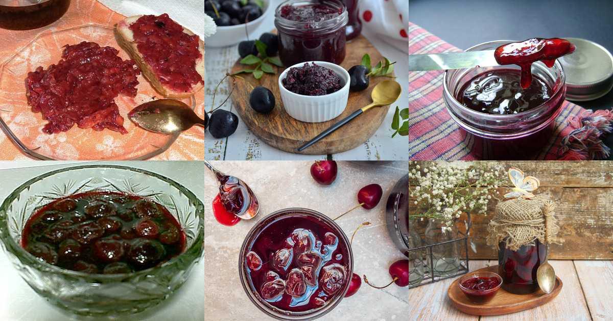Варенье из вишни с косточкой: рецепты густого вишневого варенья с целыми ягодами на зиму