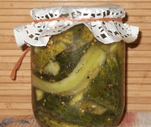 Маринованные огурцы с горчичными семенами рецепт. резаные огурцы с семенами горчицы на зиму в банках