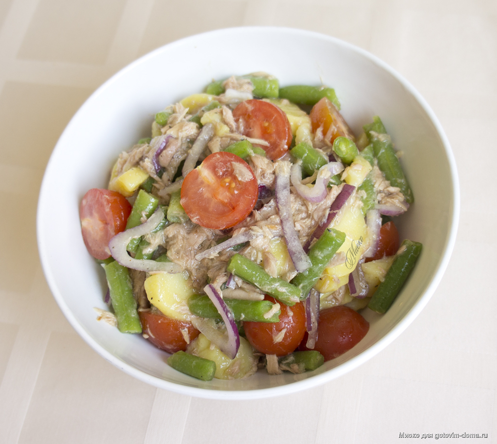 Как приготовить салат с тунцом и стручковой фасолью: поиск по ингредиентам, советы, отзывы, пошаговые фото, видео, подсчет калорий, изменение порций, похожие рецепты