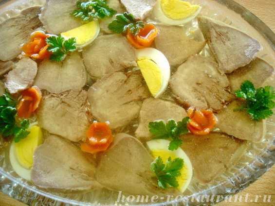 Заливной язык говяжий и свиной - вкусные рецепты с желатином и без