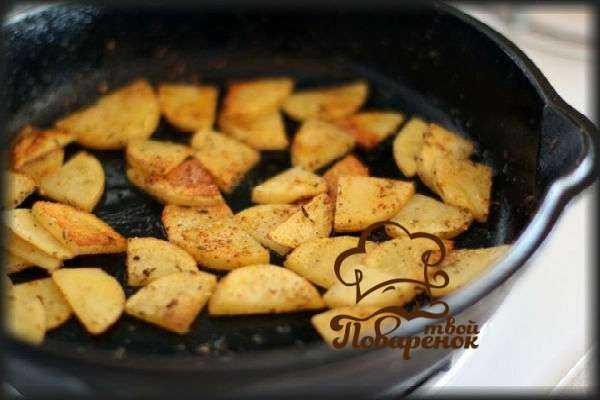 Картошка с грибами на сковороде: 105 домашних рецептов