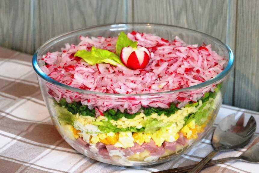 Салат с яйцом и ветчиной – закуска для любого удобного случая. топ-12 лучших рецептов салата с яйцом и ветчиной: сытных и лёгких