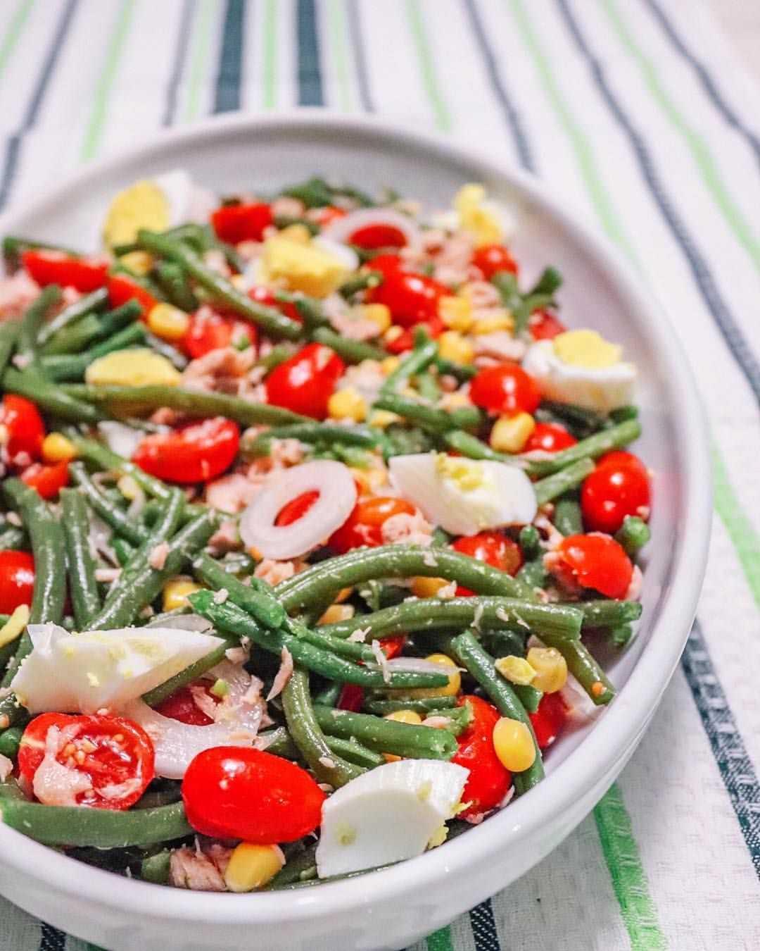 Салат из стручковой фасоли: рецепты с фото пошагово