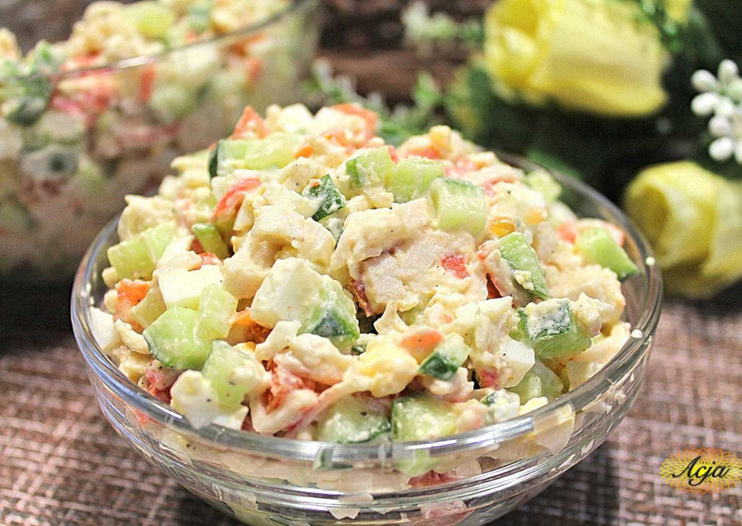 Вкусные салаты с яблоком: пошаговые рецепты