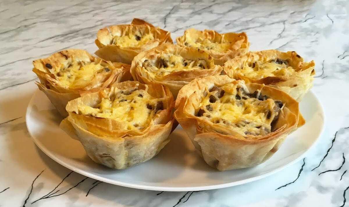 Сырные корзинки с курицей и грибами - рецепт с фотографиями - patee. рецепты