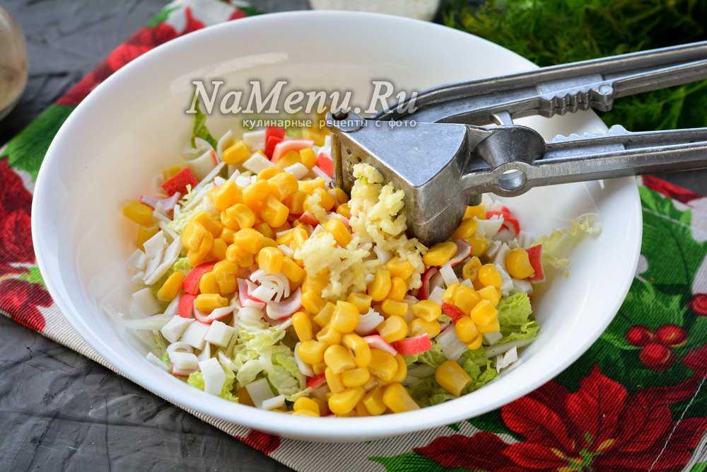Салат из пекинской капусты и кукурузы. 13 рецептов вкусного и простого салата