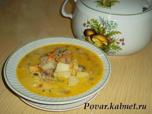 Сырный суп с курицей и грибами рецепт с фото пошагово и видео - 1000.menu