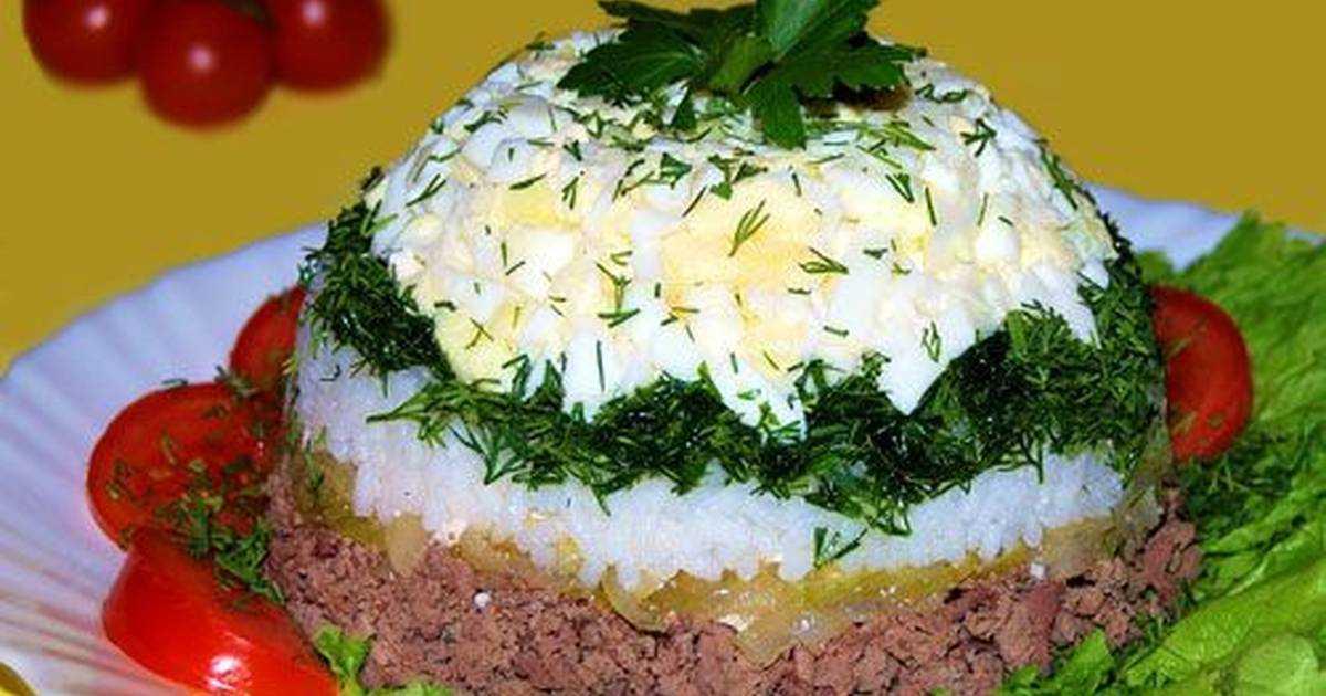 Салат из куриной печени слоеный рецепт с фото пошагово - 1000.menu