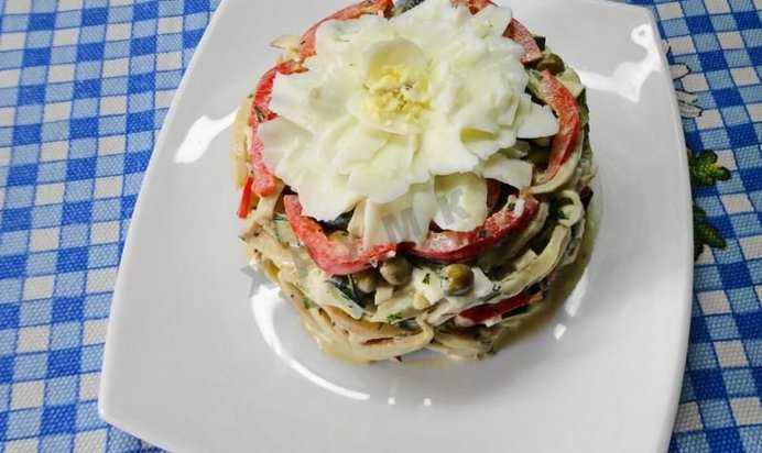 Готовь салат из кальмаров с чесноком: поиск по ингредиентам, советы, отзывы, пошаговые фото, подсчет калорий, удобная печать, изменение порций, похожие рецепты