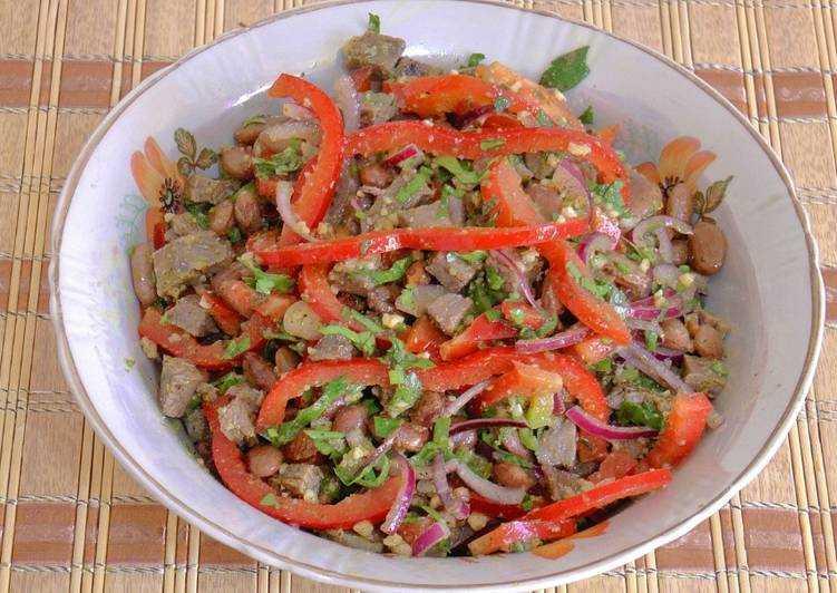Салат тбилиси - сытный и пряный салат: рецепт с фото и видео
