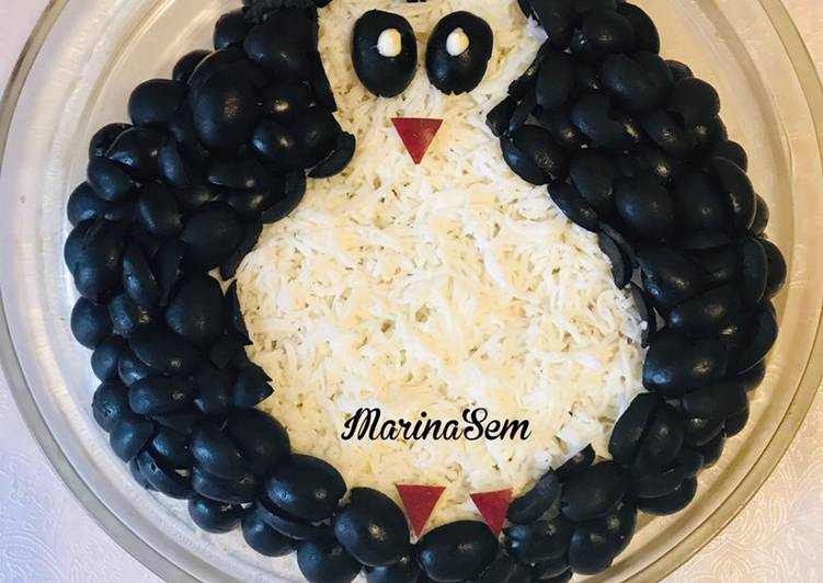 Салат пингвин рецепт с фото с горбушей - мир кулинарии