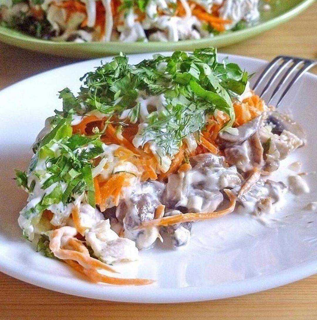 Салат из шампиньонов: рецепты с фото