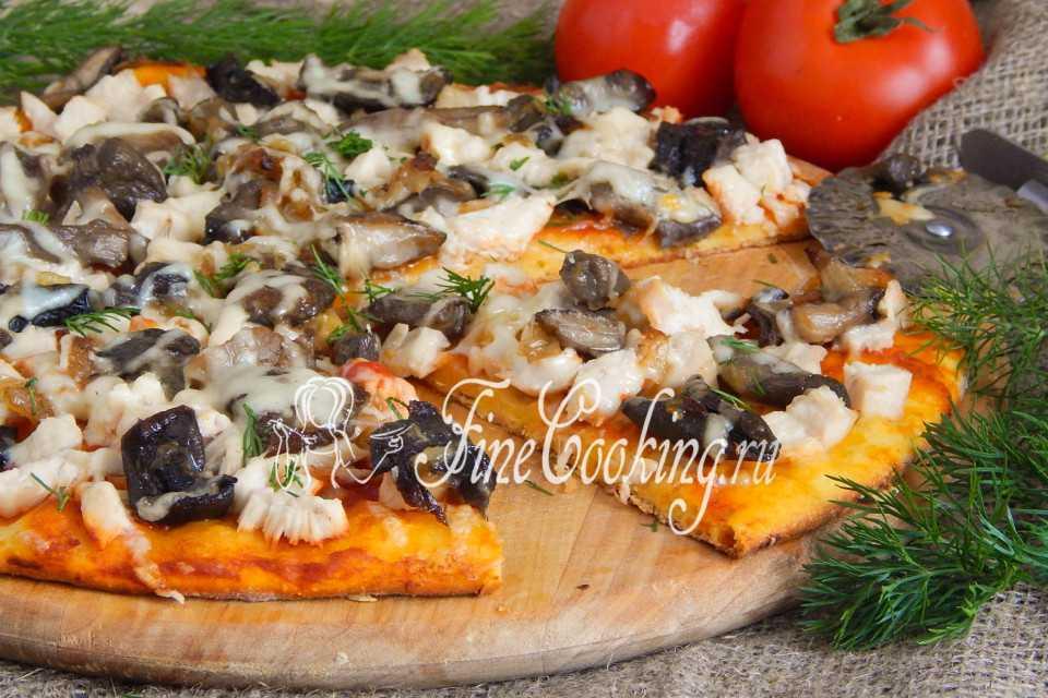 Пицца с лисичками — пошаговый рецепт с фото