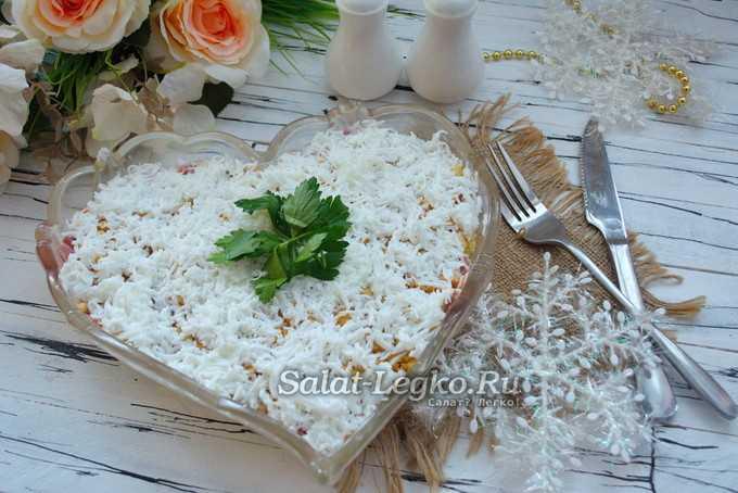 Салат «снежная королева»: 5 вкусных рецептов, видео