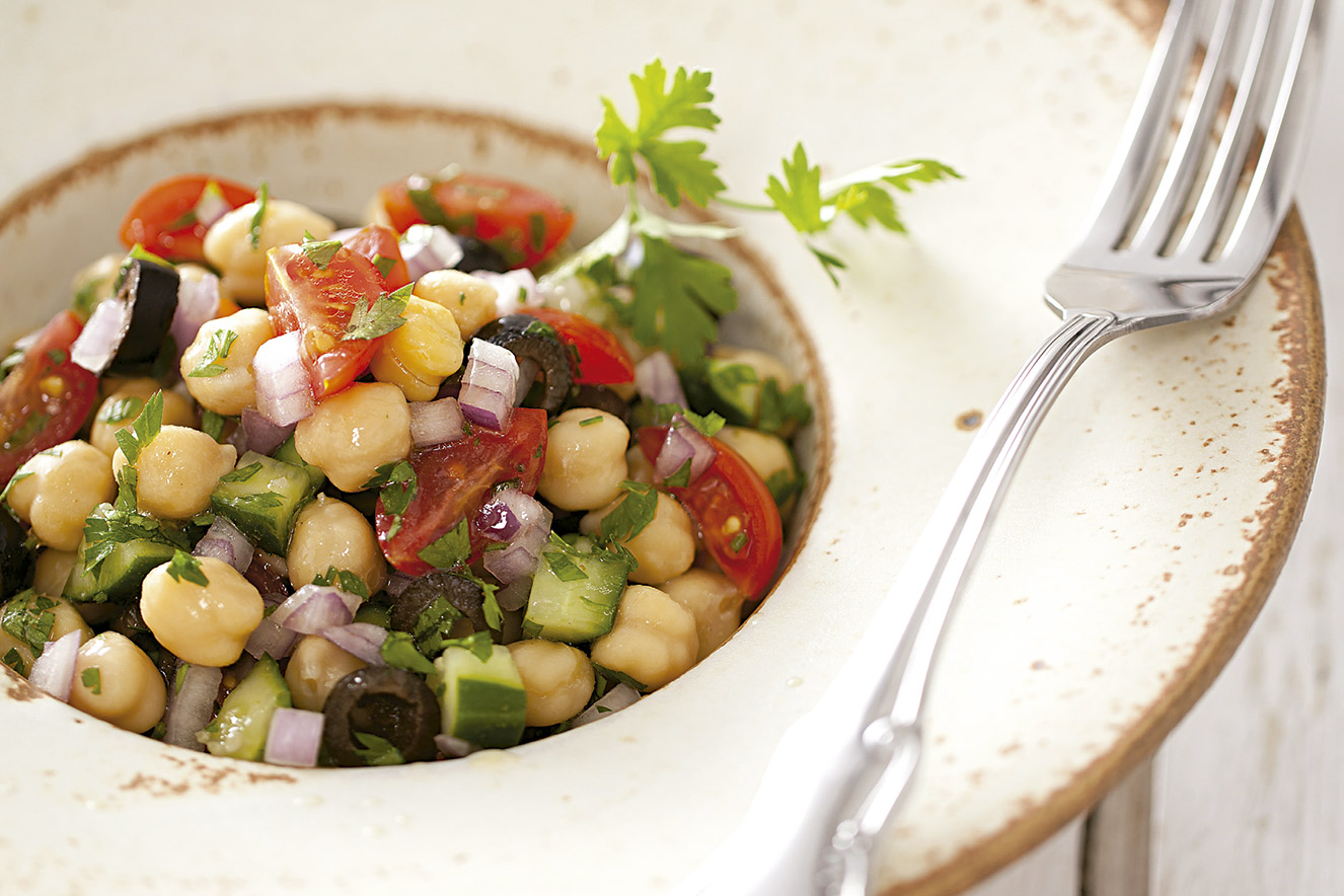 Рецепты салат из нута с баклажаном