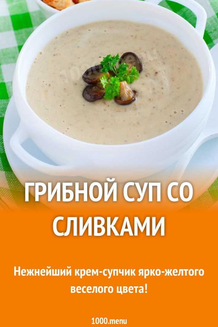 Суп пюре грибной со сливками – несколько вариантов сытного, вкусного обеда: рецепт с фото и видео