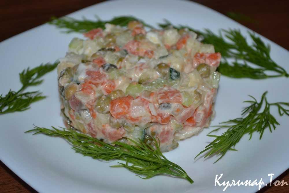 Рецепты салатов со слабосоленой семгой и форелью