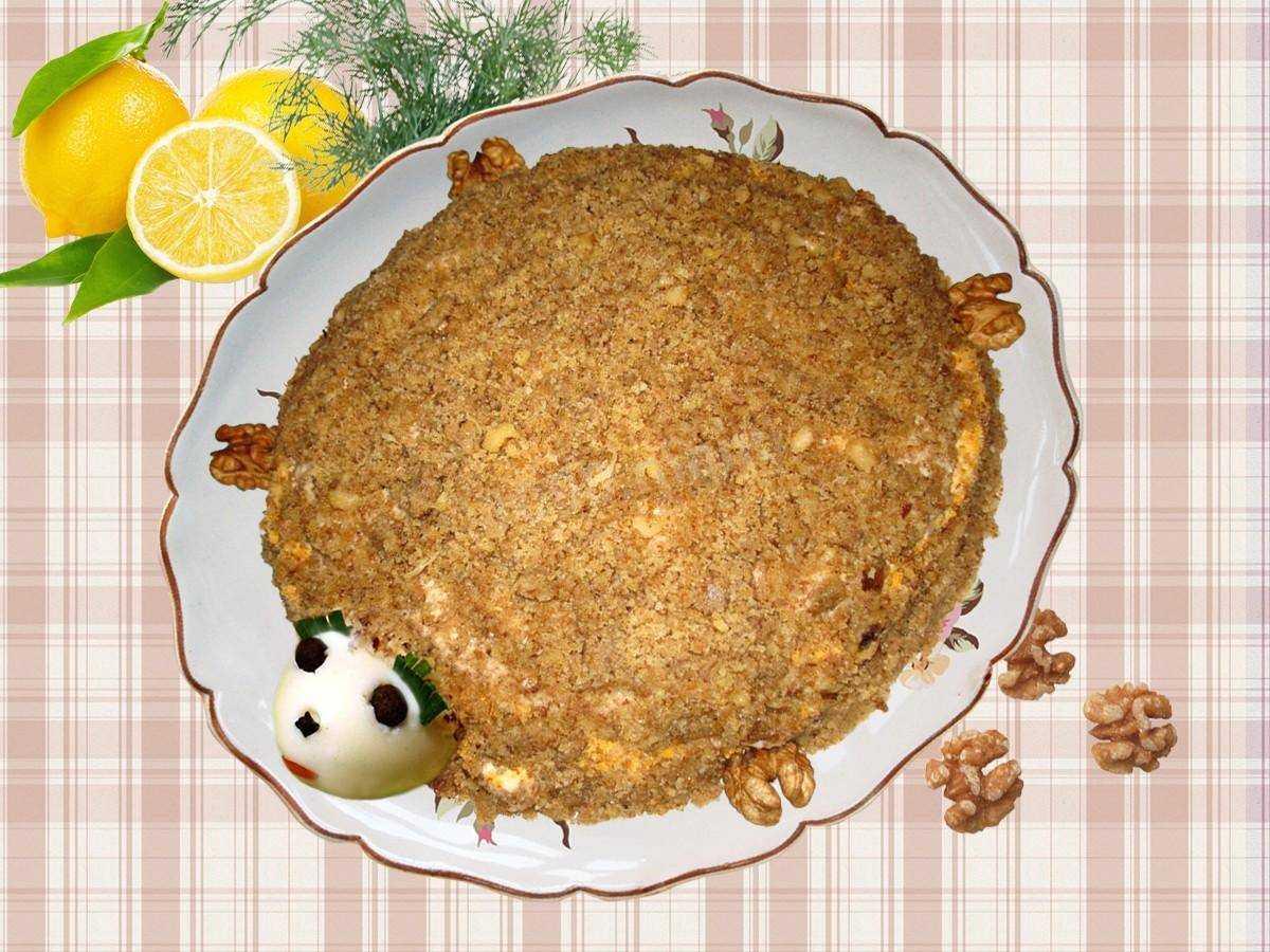 Салат черепашка с курицей и грецкими орехами — 7 пошаговых рецептов очень вкусного и красивого салата - rus-womens