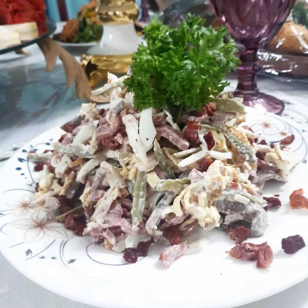 Рецепт с фото салата перепелиное гнездо