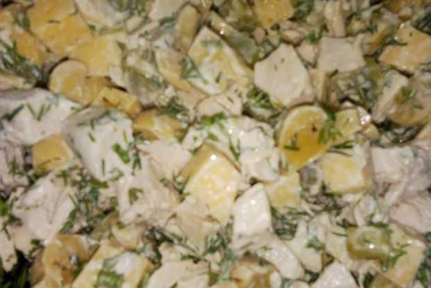 """Салат """"лисичка"""" с корейской морковкой - 5 пошаговых фото в рецепте"""