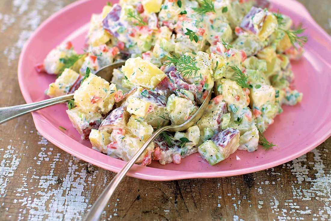 Картофельный салат по-американски, классический традиционный рецепт с фото фоторецепт.ru