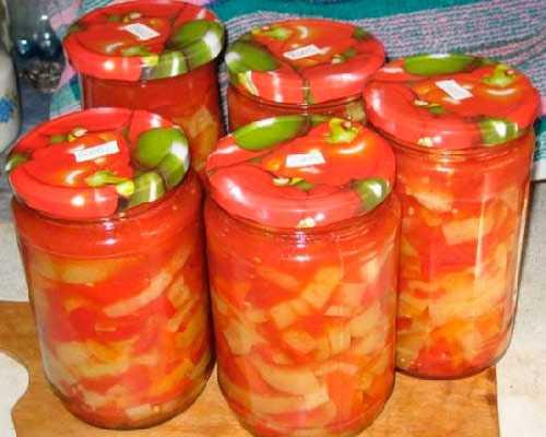 Лечо из болгарского перца с томатной пастой - заготовки на зиму лучшие рецепты