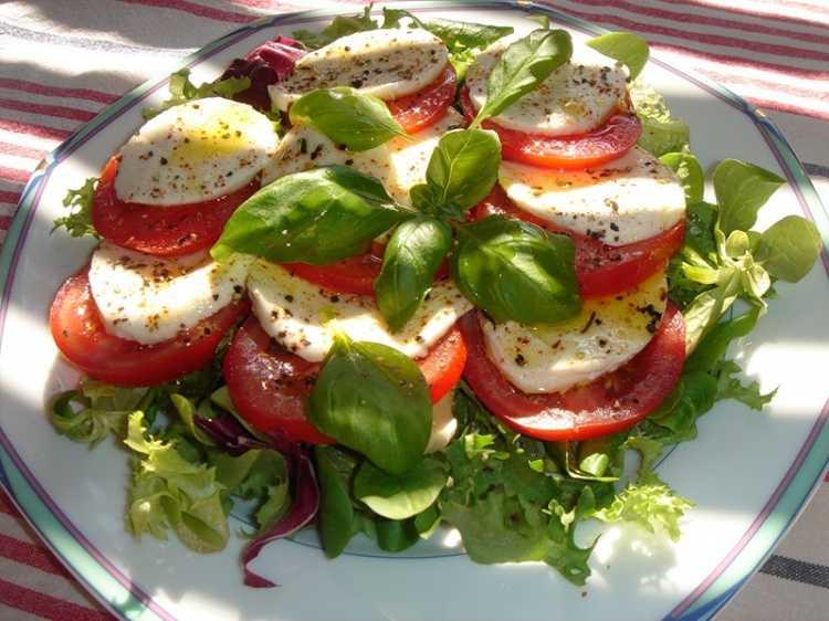 Салат с помидорами и сыром – питательно и вкусно: рецепт с фото и видео