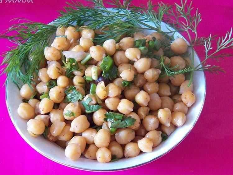 Постный салат с нутом рецепт с фото пошагово - 1000.menu