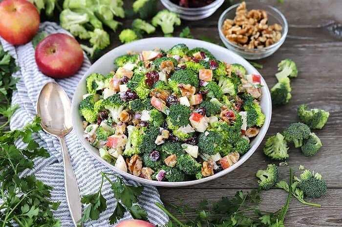 Топ 7 лучших рецептов салата из цветной капусты и брокколи с фото