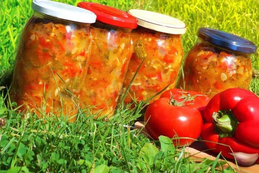 """Салат """"анкл бенс"""" из кабачков на зиму – рецепт с фото (пошагово)"""