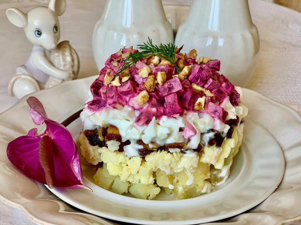 Рецепты салат мясной с орехами