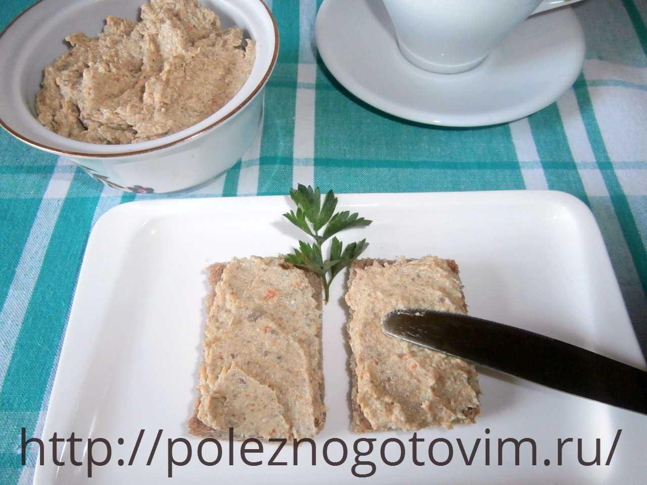Как приготовить грибной паштет из шампиньонов по пошаговому рецепту с фото